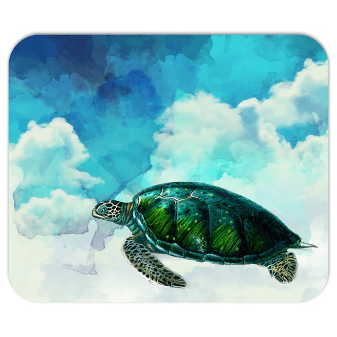 Turtles In The Clouds Mousepad - Sea Turtle - No Straws - PH
