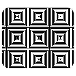 Kasvot Vaxt Optical Squares Mousepads - Black and White Squares - PH