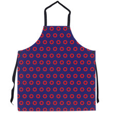 Load image into Gallery viewer, Red Circle Donut Pattern Apron, Henrietta Donut