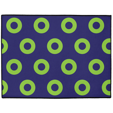 Load image into Gallery viewer, Green Donuts on Purple Doormat, Mexico 2019