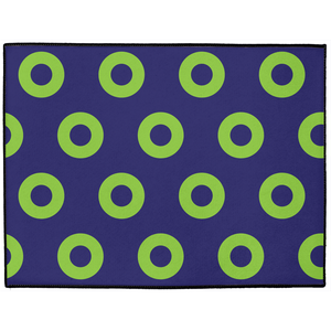 Green Donuts on Purple Doormat, Mexico 2019