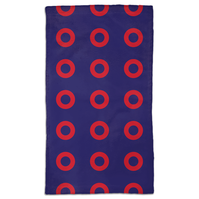 Red Circle Donut Hand Towels