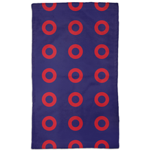 Load image into Gallery viewer, Red Circle Donut Hand Towels