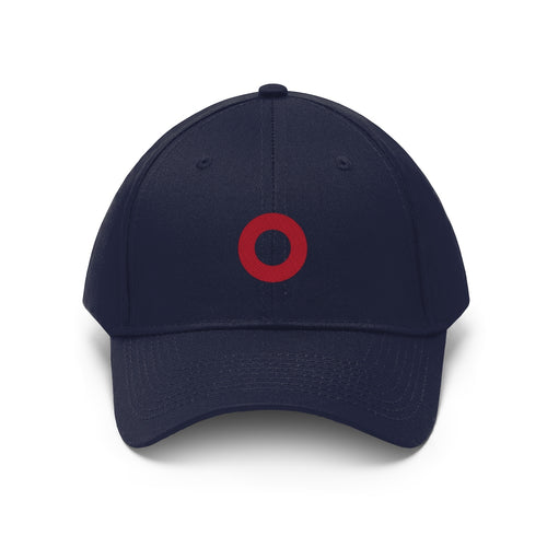 Red Circle Donut Embroidered Twill Hat