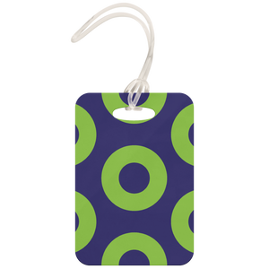 luggage tag  Green Donuts