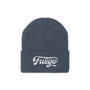 Fuego Embroidered Knit Beanie