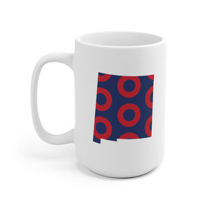 New Mexico, Red Circle Donut Coffee Mug - State Shape - PH