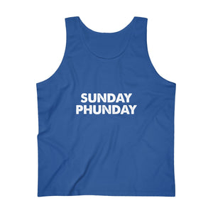 Sunday Phunday (Distressed Text) Men's Ultra Cotton Tank Top