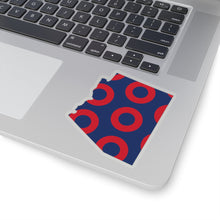 Load image into Gallery viewer, Arizona, Red Circle Donut Sticker - State Shape - PH