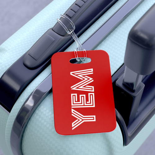 YEM RED Bag Tag - YEM Luggage Tag