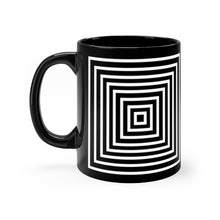 Load image into Gallery viewer, Kasvot Vaxt Optical Squares Black mug 11oz - PH