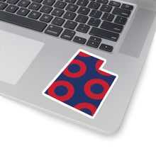 Load image into Gallery viewer, Utah, Red Circle Donut Sticker - State Shape - PH