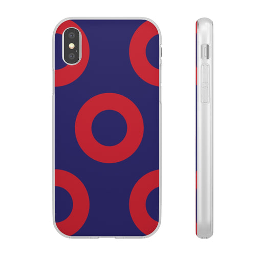 Phish Red Circle Douts Encore Flexi Phone Case (Different Phones / Sizes)
