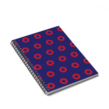 Load image into Gallery viewer, Red Circle Donut Spiral Notebook - Ruled Line - PH