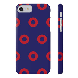 Red Circle Donut Case Mate Slim Phone Cases - PH