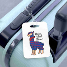 Load image into Gallery viewer, Taboot Llama Red Henrietta Circle Donut Bag Tag - Luggage Tag - PH