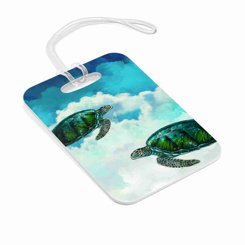 Turtles In The Clouds Bag Tag - Luggage Tag - Kasvot Vaxt - Sea Turtle PH