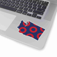 Load image into Gallery viewer, Washington, Red Circle Donut Sticker - State Shape - PH