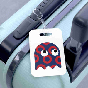 Ghost Red Henrietta Circle Donut Bag Tag - Luggage Tag - PH