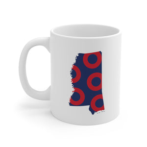 Mississippi, Red Circle Donut Coffee Mug - State Shape - PH