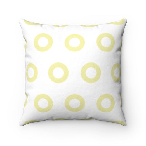 Kasvot Vaxt White Henrietta Circle Donut Square Pillow - PH