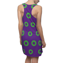 Load image into Gallery viewer, Phish Fishman Donut Women's Racerback Dress, Mexico 2019 Green Donuts on Purple