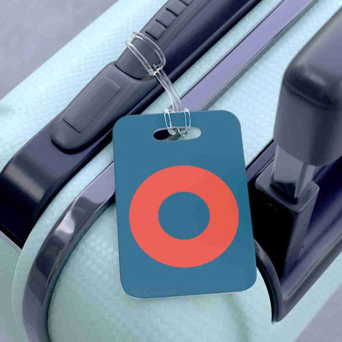 Fishman HEX Red Circle Donut Luggage Bag Tag