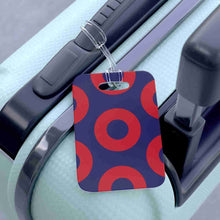 Load image into Gallery viewer, Red Circle Donuts Bag Tag, Red Circle Donut Luggage Tag, Medium Sized Donuts