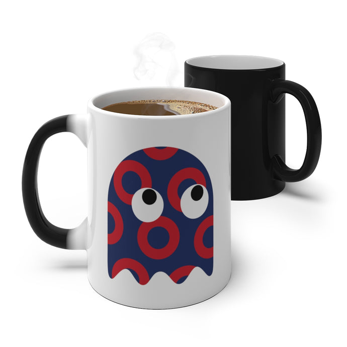 GHOST Color Changing Red Circle Donut GHOST Mug - PH