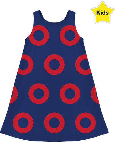 Red Circle Donut Kids Dress - PH