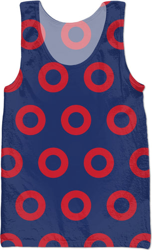 Red Henrietta Donut Ladies' Tank