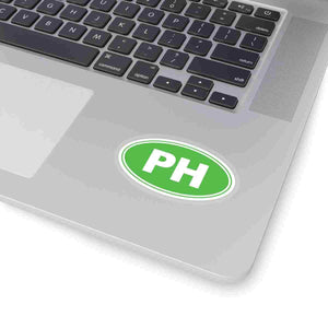 PH Euro Oval Sticker Solid LIME GREEN