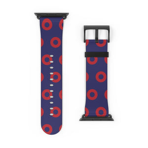 Red Donut Pattern - Henrietta Donut Pattern - Watch Strap - PH