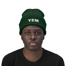 Load image into Gallery viewer, YEM Embroidered Knit Beanie