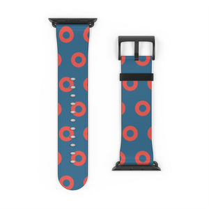 Fishman HEX Red Circle Donut Watch Strap - Small Donuts
