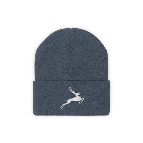 Antelope Embroidered Knit Beanie