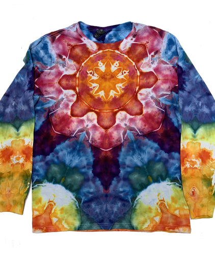 Tie Dye Long-Sleeve Tshirt - Medium