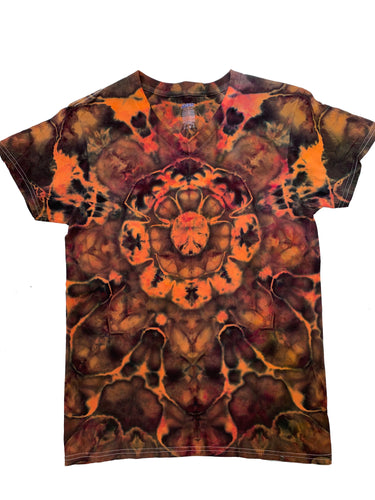 Tie Dye Womens V-Neck T-shirt - Small