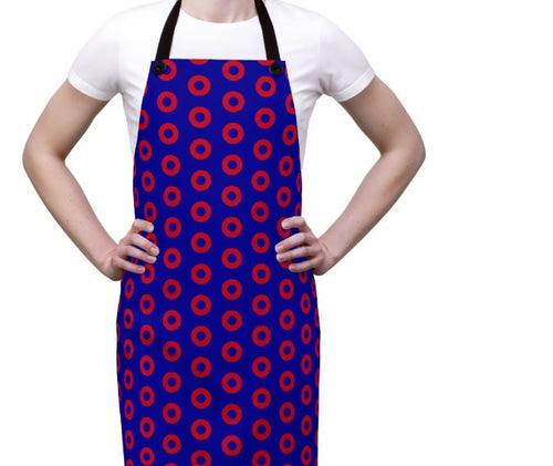 Red Henrietta Circle Donut Pattern Apron - PH