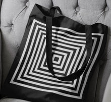 Load image into Gallery viewer, Kasvot Vaxt Tote Bag, Black and White Optic Squares - PH