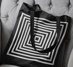 Kasvot Vaxt Tote Bag, Black and White Optic Squares - PH