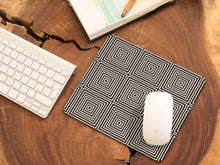 Load image into Gallery viewer, Kasvot Vaxt Optical Squares Mousepads - Black and White Squares - PH