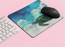 Load image into Gallery viewer, Turtles In The Clouds Mousepad - Sea Turtle - No Straws - PH
