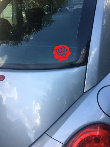 Red Begonia Vinyl Sticker (Different Sizes) - Flower Vinyl Decal - GD
