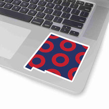 Load image into Gallery viewer, New Mexico, Red Circle Donut Sticker - State Shape - PH