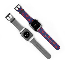 Load image into Gallery viewer, Red Donut Pattern - Henrietta Donut Pattern - Watch Strap - PH