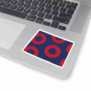 Colorado, Red Circle Donut Sticker - State Shape - PH