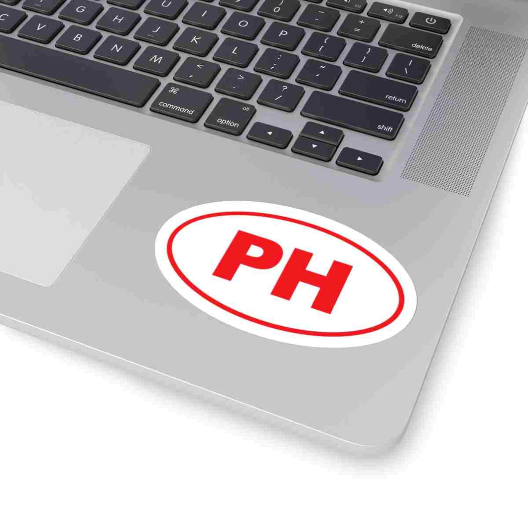 PH Euro Oval Sticker RED