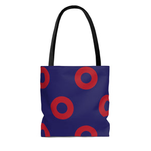 Red Circle Donut Tote Bag