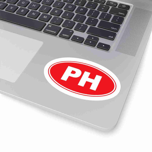 PH Euro Oval Sticker Solid RED